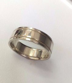 Sterling Silver .925  Millgrain  edge Polished  6 MM  confort fit Wedding Band #925 #Band