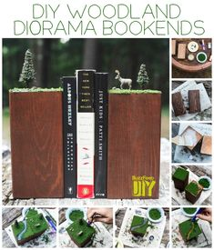 Woodland Dioramas | 23 Lovely DIY Bookends To Adorn Your Shelves