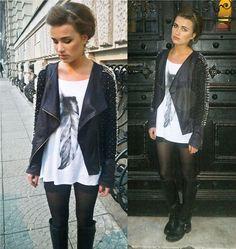 B&W combo, loving the jacket.