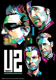 Random Promotion And Poster Art U2 Music, Rock Music, U2 Poster, U2 Band, Coldplay Art, Bono Vox, Vector Pop, Pop Art Portraits, Arte Pop