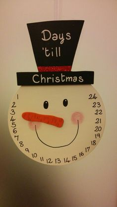Days Till Christmas, Christmas 24, Drink Sleeves, Snowman, Primary School, Snowmen