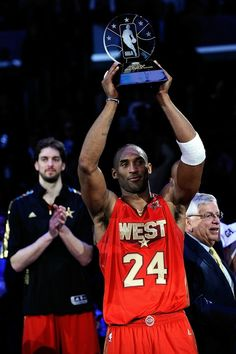 Kobe Bryant Los Angeles Lakers Most Valuable Player MVP NBA All-Star Game