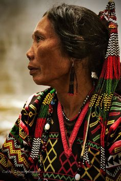 "Brilliant embroidery. This is listed as, ""T'boli woman from South Catabato, Mindanao by Catherine Israel-Angeles."""