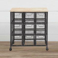 Metal Basket Utility Cart