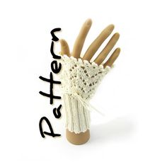 Lace victorian cuffs knitting pattern pdf by SixSkeins
