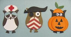 Owl Punch Art 002 so cute to put on your halloween pages!