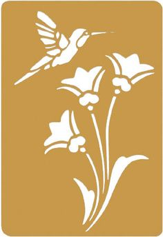 Beautiful flower and hummingbird embossing stencil, for only $2.12!  #craft