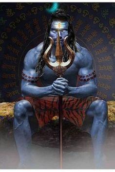 Shiva is also known as Adiyogi Shiva, regarded as the patron god of yoga, meditation and arts\ Shiva Angry, Lord Hanuman Wallpapers, Shiva Shakti, Lord, Lord Siva, Lord Shiva Painting