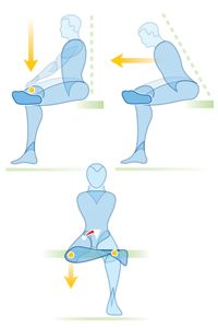Stretching the piriformis muscles