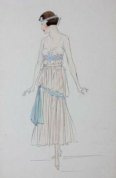 Lucile studio fashion sketches, circa 1915-20, : Lot 71