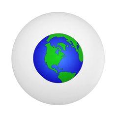 PING PONG BALL - WORLD GLOBE - tap/click to personalize and buy  #pingpongball #pingpongrackets #pingpongpaddles #world #globe