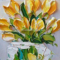 Tulip Painting Romantic gift Oil paintings  by IronsideImpastos