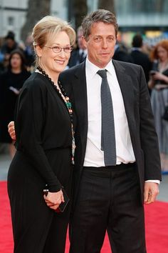 With Hugh Grant at the UK premiere of 'Florence Foster Jenkins' ~ April 12, 2016