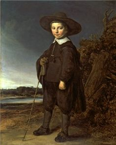 Govaert Flinck, A Portrait of a Boy, Amsterdam, This engaging portrait possibly shows David Leeuw who would have been about eight years old in He was related to the artist and was the son of a wealthy businessman and art collector. Amsterdam, Rembrandt, Your Paintings, Beautiful Paintings, Potrait Painting, Johannes Vermeer, Dutch Golden Age, Dutch Painters, Historical Art