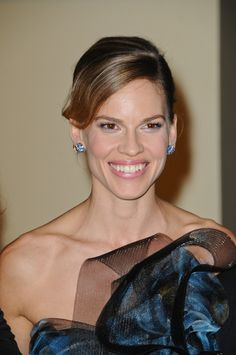 Hilary Swanks gorgeous, updo hairstyle