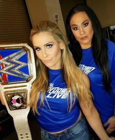 Tamina with SD Woman Champion Natalya Wwe Belts, Tamina Snuka, Wwe Female Wrestlers, Wwe Roman Reigns, Wwe Girls, Comics Girls, Women's Wrestling, Wwe Womens, Wwe Photos