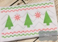 Christmas Tree Faux Smock - 2 Sizes! | What's New | Machine Embroidery Designs | SWAKembroidery.com Belliboos