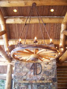 Ideas for Old Chandeliers | wagon wheel chandeliers and lamps made from authentic antique ...