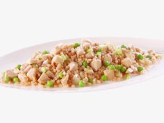 Pearl Couscous with Chicken and Peas from Giada  - very lemony- May want to decrease lemon juice  - weeknight easy