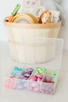 Easter Basket Ideas – Art of Everyday Living Boys Easter Basket, Easter Baskets, Easter Crafts For Adults, Easter Candy, Candy Gifts, Bento Box, Happy Easter, Basket Ideas, Diys