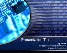 Free information overload PowerPoint template with binary numbers