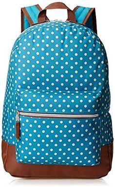 c637df32934 Back to School Trailmaker Girls Dots Backpack Teal One Size   eBay