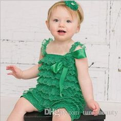 10%off Cute Baby Boys/Girls Petti Lace Romper Newborn Infant Jumpsuit Kids Rompers Children Clothing,Dress+Hairband,/Df From Ture_beauty, $11.87 | Dhgate.Com