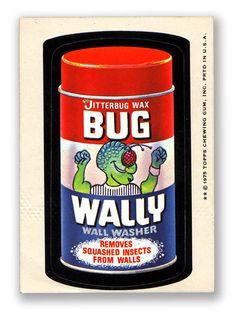Topps Wacky Packages  13th Series 1975 BUG WALLY