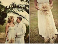 Alternative wedding beach photo shoot