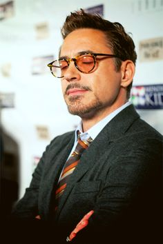 RDJ's glasses.