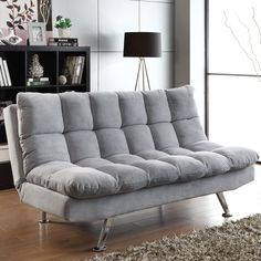 Stunning Tips: Futon Diy Cheap futon design mattress.Futon Makeover Twin Beds futon bedroom for kids.Futon Ideas For Outside. Grey Sofa Bed, Grey Futon, Futon Sofa Bed, Bed Cushions, Tufted Sofa, Futon Mattress, Sleeper Sofas, White Futon, Black Futon