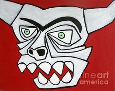 Abstract Monster Painting by Thomas Valentine - Abstract Monster Fine Art Prints and Posters for Sale