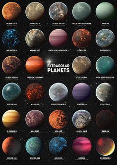 Exoplanets by Zapista OU Exoplanets by Zapista OU Jesika Albana jesimax PLANETEN 038 Cosmos exoplanets extrasolar planets planets astronomy space nebula hubble kepler spacecraft nbsp hellip Space Solar System, Solar System Planets, Solar System Crafts, Earth And Space Science, Earth From Space, Life Science, Science Facts, Planets Wallpaper, Galaxy Wallpaper