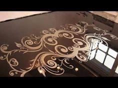 How To Do Amazing Metallic Epoxy Floor! - YouTube