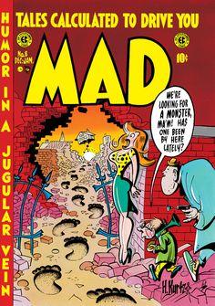 MAD #8 December 1953 cover by Harvey Kurtzman