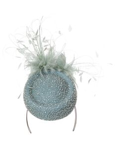 Emily Baxendale blue pillbox hat is designed to make an elegant statement at a variety of social occasions.