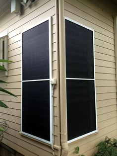 Pet Mesh Fly Screen over Louvred Windows