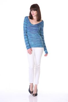 https://www.cityblis.com/4005/item/17252 | Missoni Stripes V-Neck - $89 by MY TRIBE | Missoni Stripes V-Neck Top Available in XS to L Turquoise Available Only | #Tops/Blouses