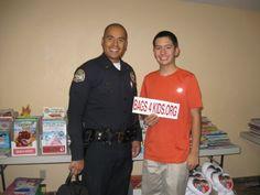 Police officers love bags4kids.org