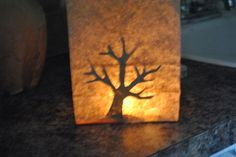 Paper Bag Burning Bush- could add a battery candle to the inside of the bag.