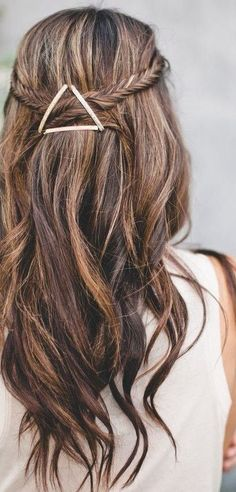 briaided down wedding hairstyles for long hair