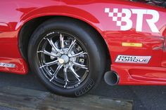 """RC Comp drag race wheels by RC Components. Featured in this image is the Exile Eclipse 17"""" front wheel."""