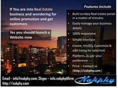 If you are looking for #Realestate #Website or want reputation of your #Online presence, Then develop your real estate website by us and get #Reliable and #Affordable price. #RealEstateWebsite #Webdevelopment #NakphyITFirm #MobileApps #ContactUs  #Email - info@nakphy.com #Skype- info.nakphyitfirm #Fllowus - https://www.facebook.com/nakphyit #Twitter - https://twitter.com/nakphyitfirm #LinkedIn - https://in.linkedin.com/in/nakphyitfirm