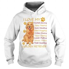 Awesome Golden Retriever Lovers Tee Shirts Gift for you or your family your friend:  I Love Golden Retriever Tee Shirts T-Shirts