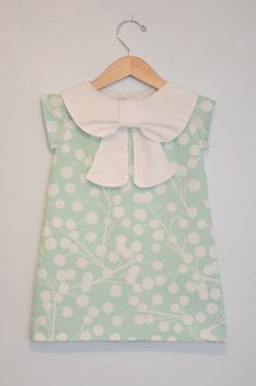 Big Collar Bow Dress by EmsyandCo on Etsy, $60.00