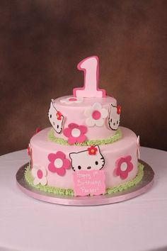 Hello Kitty birthday cake.