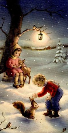 42 Best Ideas for fashion ilustration vintage christmas scenes Vintage Christmas Images, Christmas Scenes, Old Fashioned Christmas, Christmas Past, Retro Christmas, Vintage Holiday, Christmas Pictures, Christmas Greetings, Winter Christmas