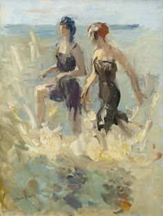 In the Waves, by 'Isaac' Lazarus Israels (Dutch, 1865-1934)