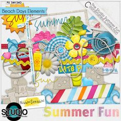 Summer Fun: Beach Days Elements by Nibbles Skribbles