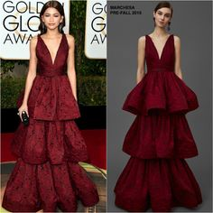 Zendaya Coleman in Marchesa at the 73rd Annual Golden Globe Awards